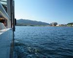 Zum Glück ist die See schön ruhig
