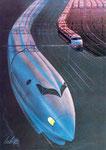 1983 Entwurf für den Shinkansen-High-Speed-Express