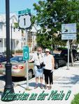 Bei Kilometer 0 auf der Route No.1 in Key West