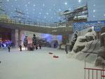 Der Ski-Dome mit der Skipiste wird mit Schweizer Sesselbahnen und Skiliften «erklommen»