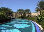 Auch der künstlich angelegte Wasserpark gibt einen «Vorgeschmack» auf das Prestige-Objekt.