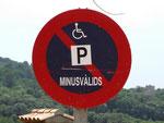 . . . ist katalanisch und bedeutet Behinderte (und nicht etwa «Minderwertige» !)