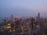 Abendlicher Blick vom Hancock Tower  . . .