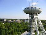 1990 Büro-UFO auf einem alten Kohleförderturm . . .