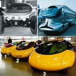 unten: 2005 Colani Micro Cars für China