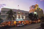 Typisches Bild aus dem Art Deco District in Miami