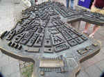 Schönes Relief der Innenstadt