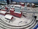 Winterliche Darstellung der Eisenerz-Mine im schwedischen Kiruna (Lappland)