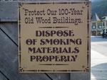 Eine der wohl wichtigsten Hinweise für diese alte «Holz-Stadt»