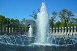 Die imposanten Brunnen an der Gedenkstätte für alle gefallenen Soldaten