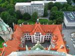 Blick in den Innenhof des Rathauses