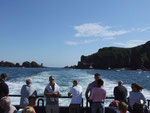 Wir lassen Sark hinter uns und fahren zurück zur Insel Guernsey,