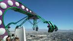 Einserseits Thrill auf rund 300 Meter freischwebend über dem Boden...