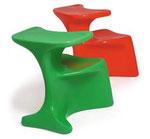 1972 Kinderstuhl ZOCKER: Beidseitiges Sitzen: Mit Tischchen . . .