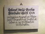 Entwurfsmodell von 1764 des sogenannten «Steinhuder Hechts» . . .