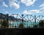 Blick von der oberen Altstadt hinunter auf den neuen Bootshafen