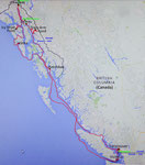 Hier unsere Reiseroute, die «Inside Passage»