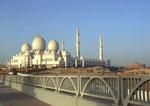 Auf der Rückfahrt von Dubai kurzer Fotohalt bei der weltgrössten Moschee mit 125'000 Sitz-/Knieplätzen
