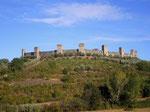 Blick auf das Burgstädtchen Monteriggioni mit den 14 Türmen ringsum