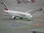 Die Emirates ist soeben gelandet