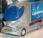 Früher Entwurf für eine strömungsgünstige LKW-Führerkabine als Modell . . .