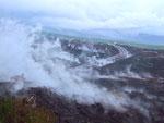 . . . und bildet eine wunderschöne, aber gefährliche «Nebelwand» durch den lange anhaltenen Dampf