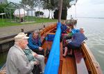 Wir legen mit dem Auswandererboot wieder ab Richtung Festland