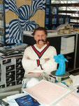Prof. Luigi Colani anlässlich eines Besuches in der Nancy-Halle in Karlsruhe