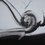 Ohne Titel Nr. 252, 80x80 cm, Acryl mit Tapetenkleister aus Leinwand, 320,-- €