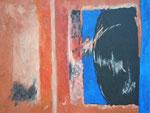 Ohne Titel Nr. 254, 100x70 cm, Acryl mit Spachtelmasse auf Leinwand, 340,-- €