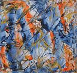 Ohne Titel Nr. 246, 80x80 cm, Acryl mit Tapetenkleister auf Leinwand, 320,- €