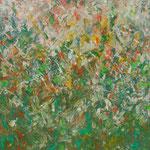 Ohne Titel Nr. 220.1, 100x100 cm, Acryl mit Spachteltechnik auf Leinwand, 400,-- €