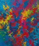 Ohne Titel Nr. 213, 80x100 cm, Acryl und Spachteltechnik auf Leinwand, 360,-- €