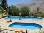 In Pisco Elqui, unser Freiluft-mit-Bergsicht-Schwimmbad