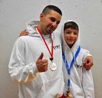 SM-Teilnehmer Marco Luca (links) und Keith Mader (rechts)
