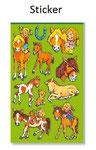 Pony Sticker zum Kindergeburtstag
