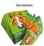 Pony Servietten für den Kindergeburtstag