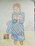 Picasso: Kind mit Taube, Nachahmnung von David aus der 9d