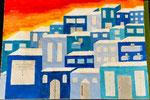 Die blaue Stadt von Kathrin aus der 5b