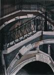 Treppenhaus aus Venezianischen Brücken -30x40cm