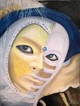 maschera veneziana - 30 x 40 cm / 2017