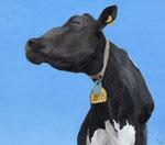 「牛と空」 2013 アクリル