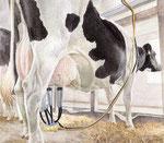 「牛乳への道」 2015 水彩