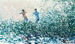 Toi et moi, 100x170 cm, 2020, Öl auf Leinwand