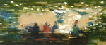 It´s late, 60x140 cm, 2019, Öl auf Leinwand