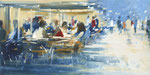 Café  del mar, 100x200 cm, 2019, Öl auf Leinwand