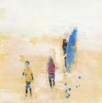 The surfers 02, 80x80 cm, 2018, Öl auf Leinwand