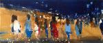 Ausflug mit Frauen, 60x140 cm, 2018, Öl auf Leinwand