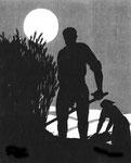 Der Schnitter im Mond