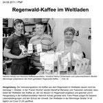 Regenwaldkaffee im Weltladen